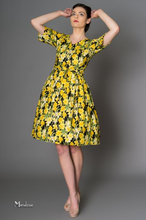 victory parade quirky prints retro styles Dresses made in Uk