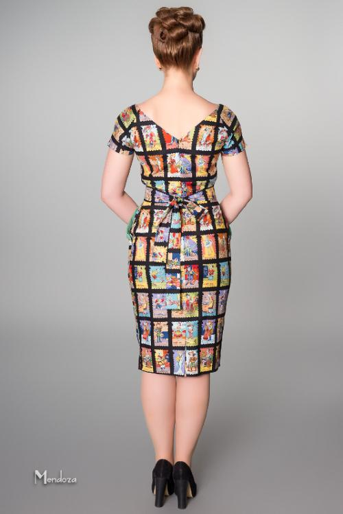 vintage style dress with pockets