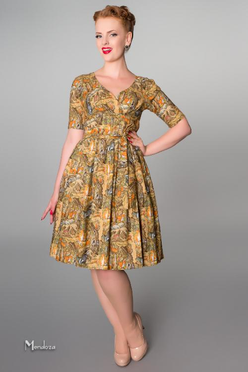 classic retro day wear dress