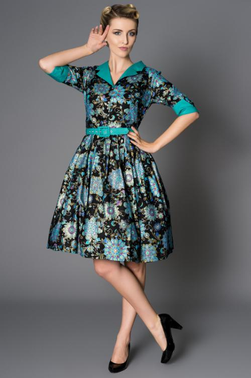 Victory parade collection Collette pleat dress