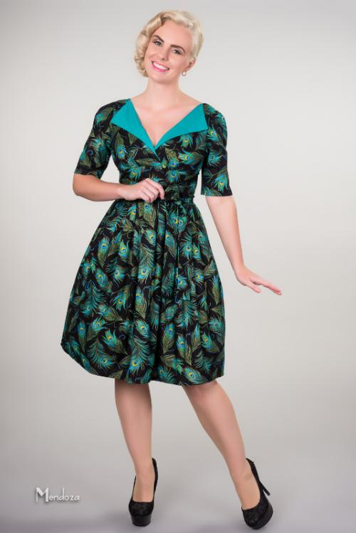 revere pleat vintage style mad men dress